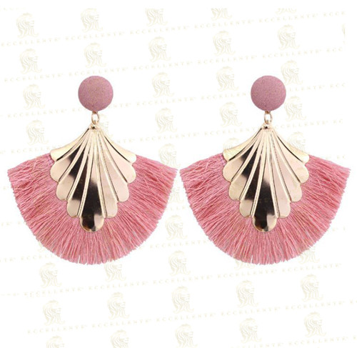 New Fashion Fan-Shaped Tassel Women Earrings
