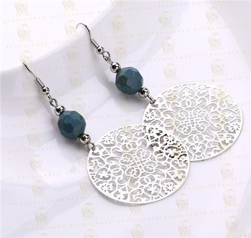 Fashion Hollow Complex Round Popular Decorative Earrings