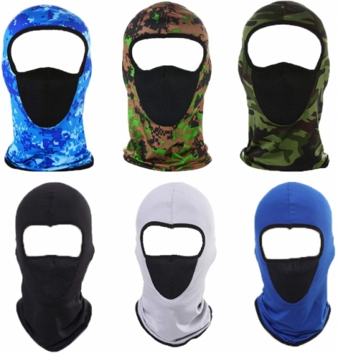 6Pcs Breathable Neck Gaiters Outdoor Sports Bandanas