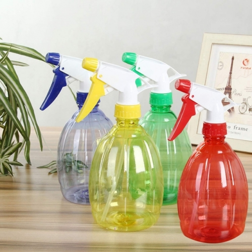 Plastic Water Spray Bottles, Hand Pressure Adjustable Home Garden Spray Bottles 500ML/ 4 Pcs