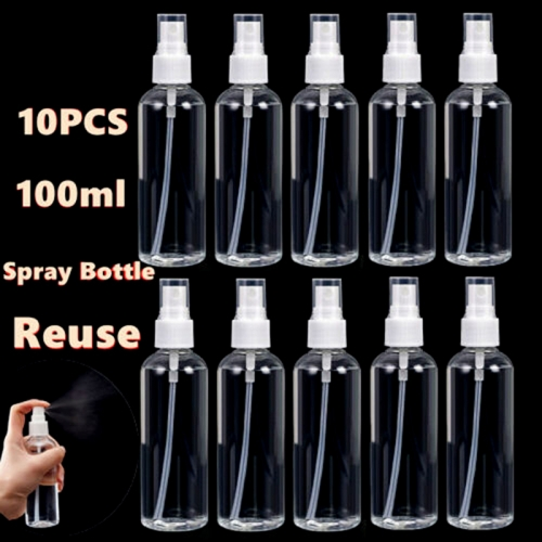 100ml / 3.4 Oz Atomizer Spray Bottle, Portable Travel Bottle Set, Atomizer, 10 Pcs