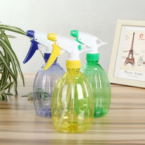 3 Pieces 500ML Empty Plastic Spray Bottles, Hand Pressure Adjustable Plastic Spray Bottles For Hair & Cleaning & Watering The Flowers