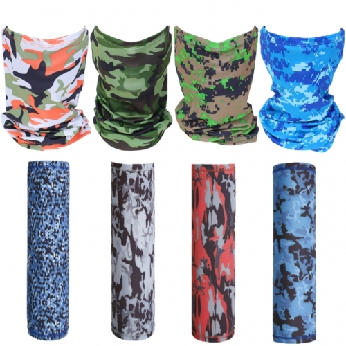 Quick-Drying Neck Gaiters Neckerchief Sun Protection Camouflage Bandana