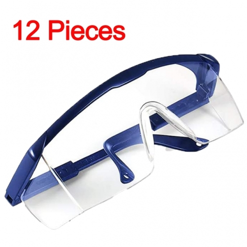 Blue Safety Goggles Full View Glasses Adjustable Over-Glasses