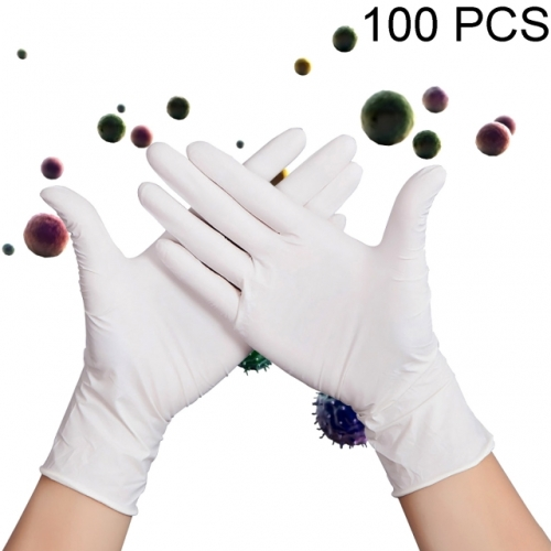 50 Pairs Of Disposable Gloves, Nitrile Gloves, Latex-Free, Powder-Free, White Medical Examination Gloves