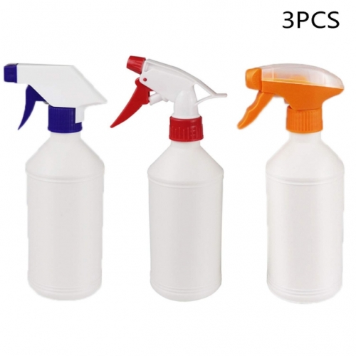 3 Pcs 500ml Plastic Hair Spray Bottles Empty Water Spray Bottles Garden Bottles For The Home, Plastic Spray Bottles For Hair & Cleaning & Pouring