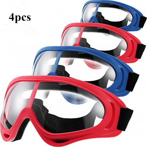 4 Pcs Protective Goggles Safety Glasses Eyewear for Teens Game Battle Hiking and Sand Prevention