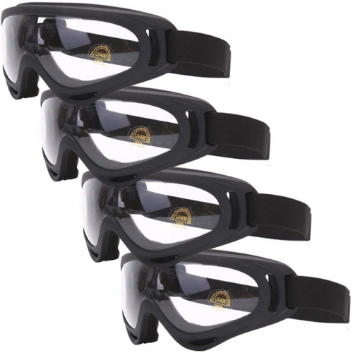 4 Pcs Kids Safety Glasses Perfect for Gun Games - Black Protective Safety Eyewear Protection Shield