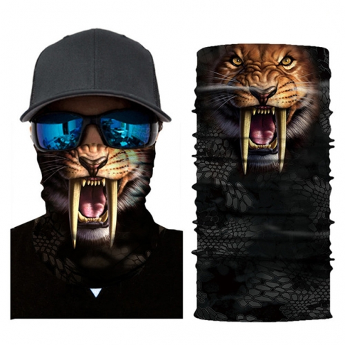 Seamless Bandana for Dust Sun Protection, Animal Print Magic Neck Gaiter Scarf