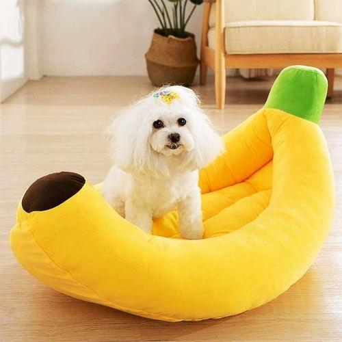 Soft Cushion Yellow Banana Dog/Cat Bed