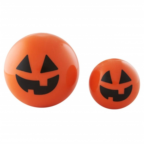 Halloween Jack-o-Lantern Treat Dispensing Ball, Durable Dog Chew Toy Glow in The Dark