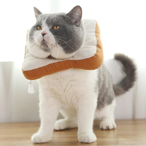 Adjustable Bread Toast Cat Cone Collar Recovery Cone Dog Protection Ring