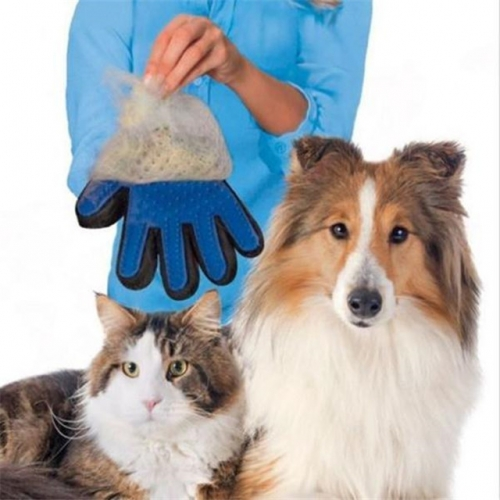 Pet Deshedding Glove Hair Remover Brush