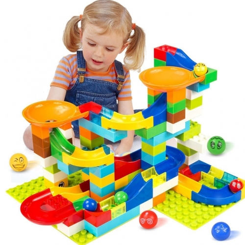 Marble Race Run Maze Ball Track Building Blocks Toys For Children