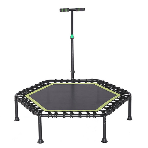 Reliable Adult Indoor Bungee Cord Jumping Rebounder Gymnastic Fitness Mini Hexagon trampoline