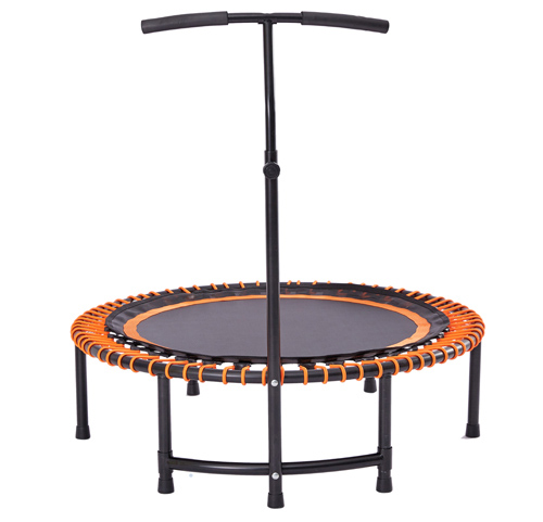Bungee rope fitness trampoline with handle
