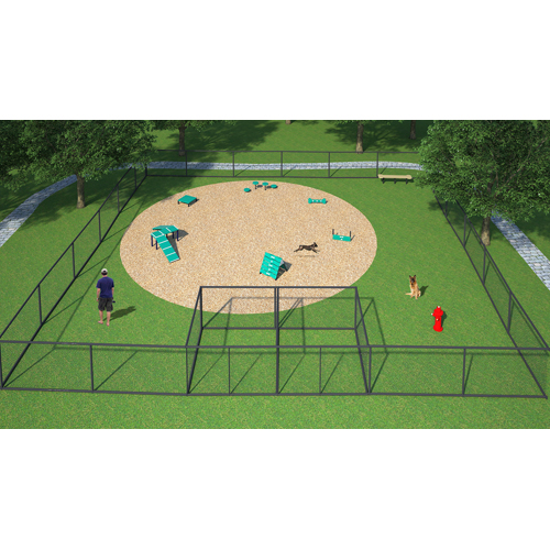 DOG PARK KITS CANINE COURTYARD DELUXE SYSTEM