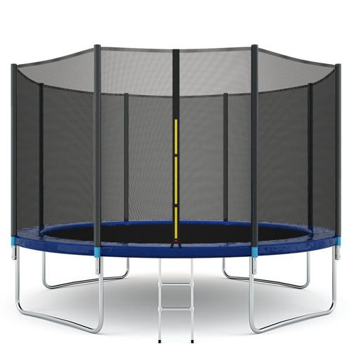 14ft Backyard Kids Single Bungee Jumping Trampoline with Safety Net
