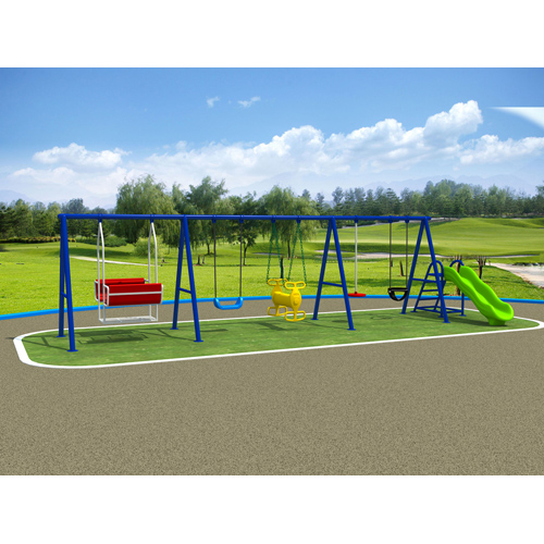 Fitting sport outdoor playground kids metal swing set complete set with seat,chair and climbing ladder original factory