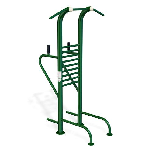 Galvanized Steel Double Multifunction Trainer Gym Equipemnt Outdoor Fitness Equipment KP-JSQ082