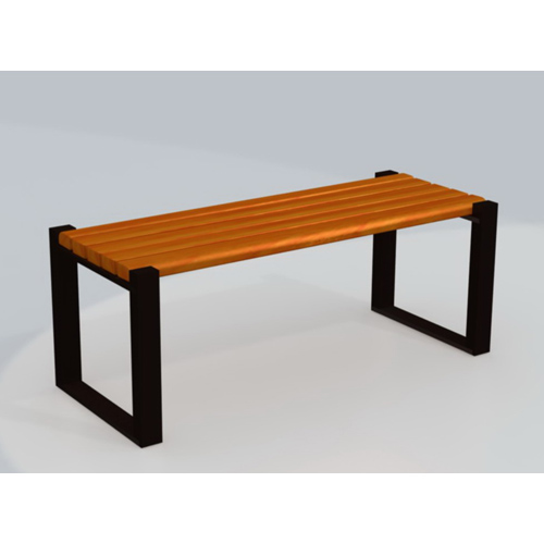 chinese kids public park simple backless wooden garden bench for outdoor