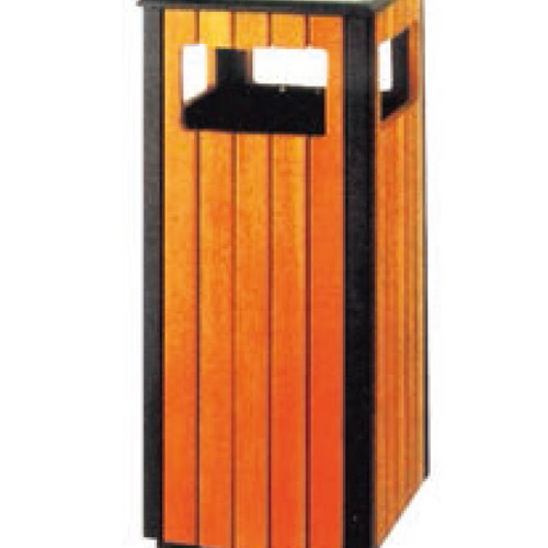 Public Area Outdoor Wooden Ash Trash Can