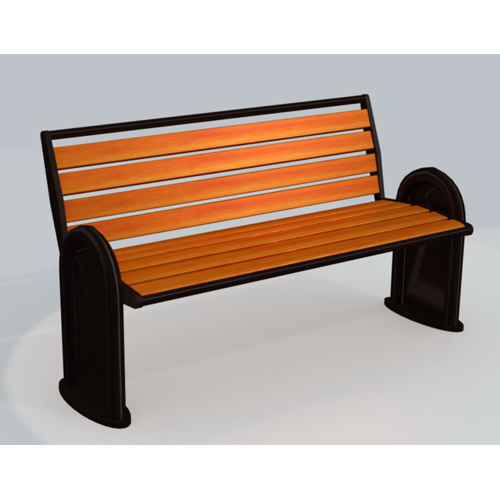 Durable antirust metal and recycled plastic slat street park benches outdoor garden chair