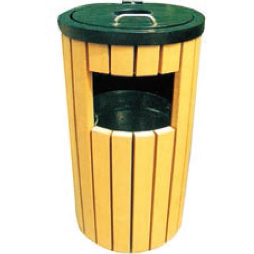 outdoor indoor large trash cans wooden garbage box outside recycling bins
