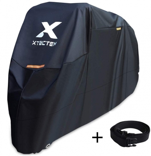 XYZCTEM Motorcycle Cover -Waterproof Outdoor Storage Bag,Made of Heavy Duty Material Fits up to 116 inch, Compatible with Harley Davison and All motor