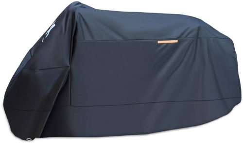 XYZCTEM Motorcycle Cover -Waterproof Outdoor Storage Bag,Made of Heavy Duty Material Fits up to 108 inch, Compatible with Harley Davison and All motor