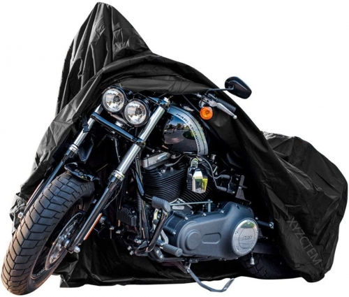 New Generation Motorcycle cover ! XYZCTEM All Weather Black XXXL Large Waterproof Outdoor Protects Fits up to 118 inch Motorcycle Bike