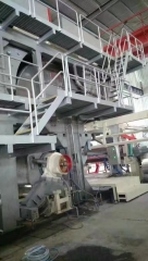 Crescent toilet paper machine