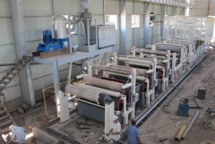 Cylinder mould paper machine