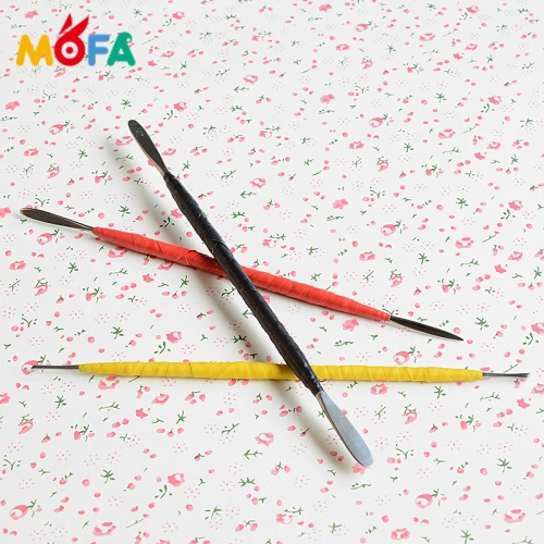 3Pcs/Set Carving clay Pottery Ceramic Tool Sculpture Tool Soft Shaping Modeling tools Polymer clay tools
