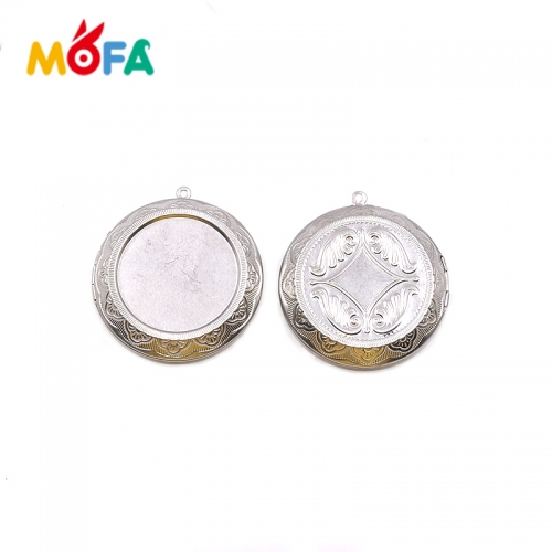 MOFA Stainless steel ball earring steel color earring stud