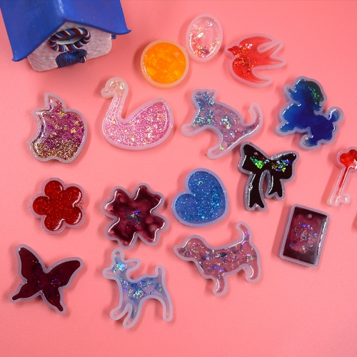 MOFA DIY Handmade Accessory Silicone Mold In 18 Designs For Jewelry Craft Decoration UV resin
