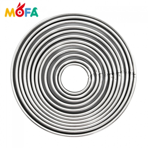 MOFA Baking tools Round Stainless steel Polymer clay mould set 12 pcs Cake Mold