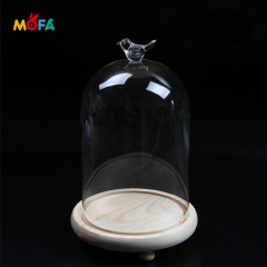 MOFA Different shape optional Mold Pressed Outdoor Lighting Glass Shade