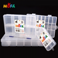 8/10/24/26 grid Transparent Plastic Multifunctional Case Nail Art Display Box Polymer clay Storage Box
