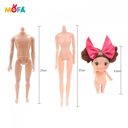 27cm 12-joint fit for baby doll plastic body model