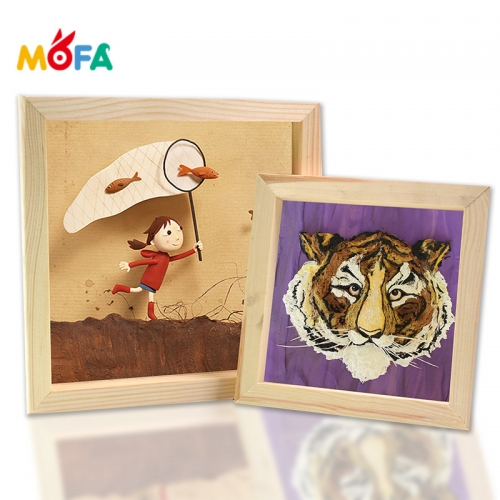 Wooden Wall Frames Collage Picture Frame Family Wholesale Super light clay picture frame