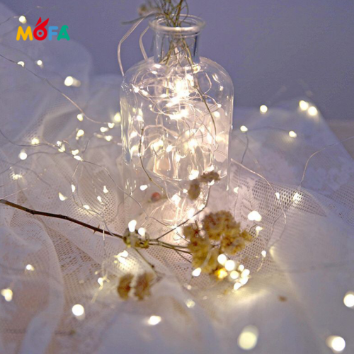 1M 10LED Mini Battery Powered Fairy String Lights Christmas Decorative Copper String Light