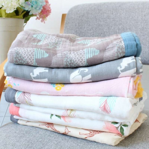 Organic four gauze fabric/Muslin Blanket/Towel