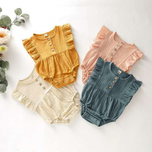 Summer Boutique Baby Girl Double Gauze Dresses Kid...