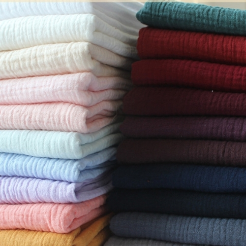 100% Organic Cotton good stock high qality low price wholesale double gauze solid