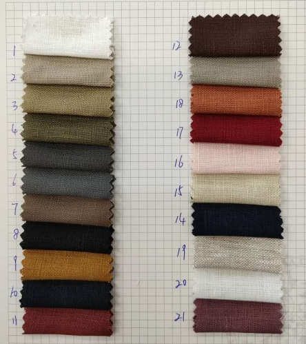 hot sale pure linen fabric for shirt