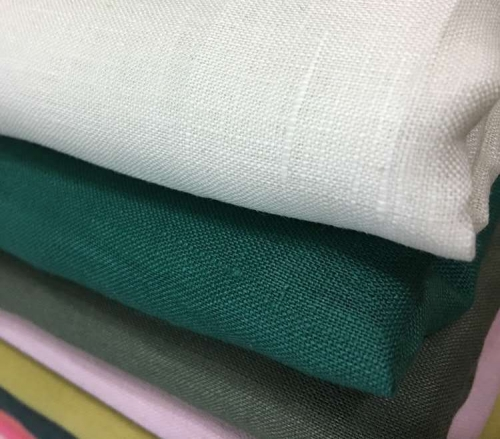 In Stock 55% Linen 45% Cotton Flax Fiber Hotel Table Linen Supplier Material Fabric Price Cotton Bed Blend Cotton Linen Fabric