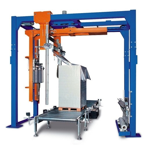 Rotary arm pallet wrapper with film dispenser TP-XB180-FD