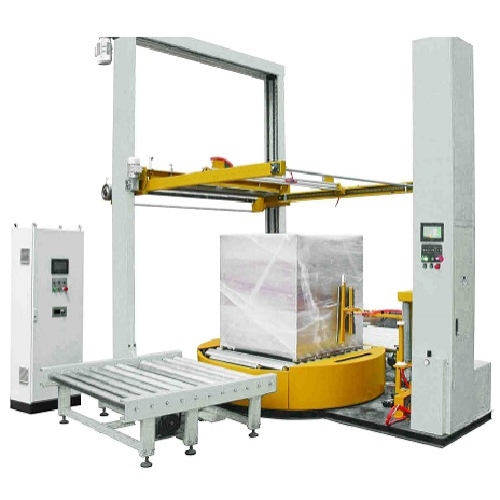 Online pallet shrink wrapper with top film dispenser TP-ZX200-FD