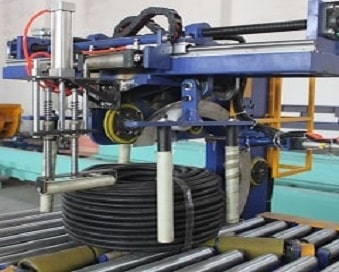 hose pipe coil auto wrapping machine